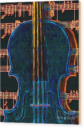 Violin - 20130128 Wood Print by Wingsdomain Art and Photography