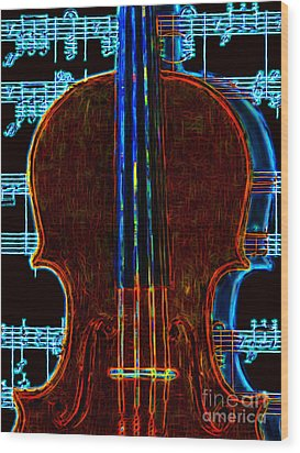 Violin - 20130128v1 Wood Print by Wingsdomain Art and Photography