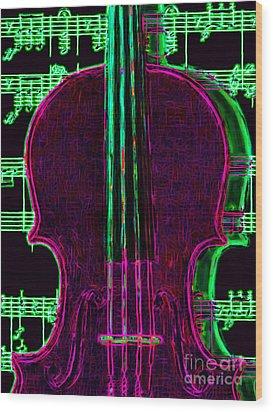 Violin - 20130128v2 Wood Print by Wingsdomain Art and Photography