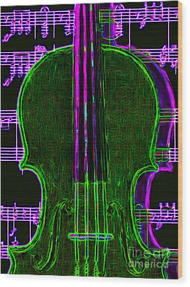 Violin - 20130128v4 Wood Print by Wingsdomain Art and Photography