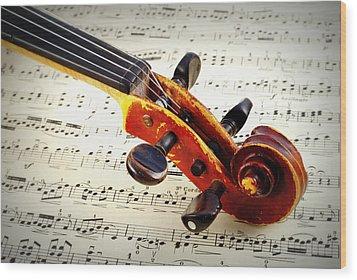 Violine Wood Print by Chevy Fleet