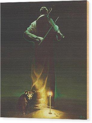 Violinist Wood Print by Andrej Vystropov