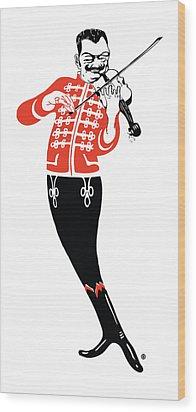 Violinist Wood Print by Gary Grayson