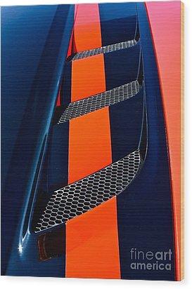 Viper Wood Print by Linda Bianic