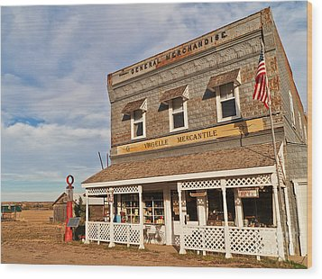 Wood Print featuring the photograph Virgelle Mercantile by Sue Smith