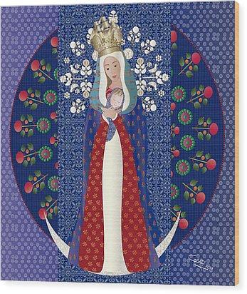 Virgen Posada Del Lago Wood Print