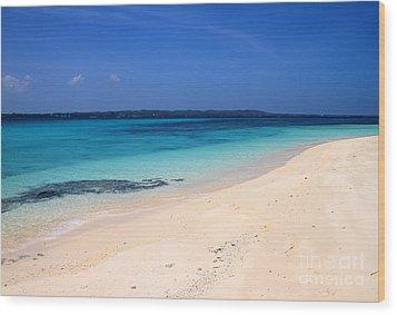 Wood Print featuring the photograph Virgin Island Cebu by Joey Agbayani