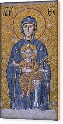 Virgin Mary And Christ Child Wood Print by Stephen Stookey