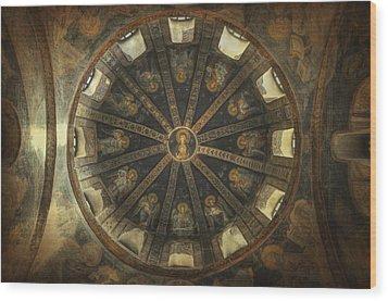 Virgin Mary Cupola Wood Print by Taylan Apukovska
