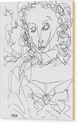 Virgin Mary Wood Print by Rachel Scott