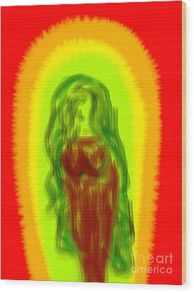 Virgin Of Seduction Wood Print by James Eye