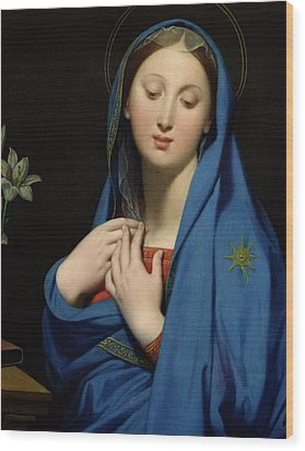 Virgin Of The Adoption Wood Print by Jean Auguste Dominique Ingres