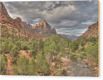 Wood Print featuring the photograph Virgin River by Jeff Cook
