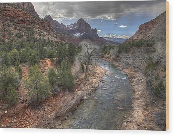 Virgin River Wood Print by Wendell Thompson