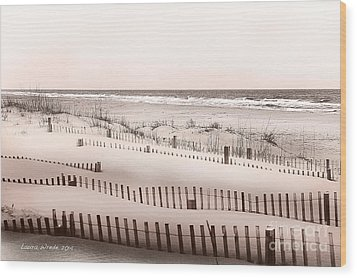 Virgina Beach Vacation Memories Wood Print by Artist and Photographer Laura Wrede