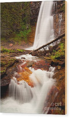 Wood Print featuring the photograph Virginia Cascades by Aaron Whittemore