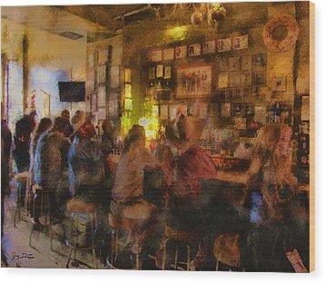 Virginia City Bar Wood Print