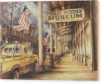 Virginia City Nevada - Western Art Wood Print