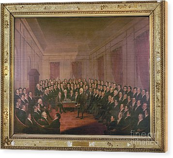 Virginia Convention 1829 Wood Print by Granger