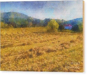 Virginia Fields Wood Print