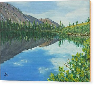 Virginia Lake Wood Print