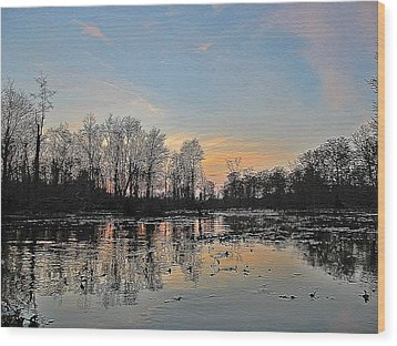 Wood Print featuring the photograph Virginia Landscape Art #1b by Digital Art Cafe
