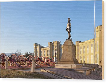 Virginia Military Institute Wood Print