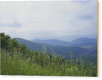 Wood Print featuring the photograph Virginia Mountains by Laurie Perry
