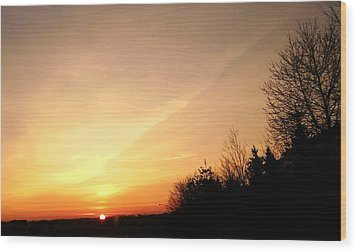 Wood Print featuring the photograph Virginia Sunset by Carlee Ojeda