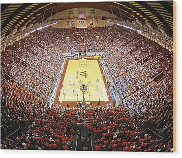 Virginia Tech Hokies Cassell Coliseum Wood Print by Replay Photos