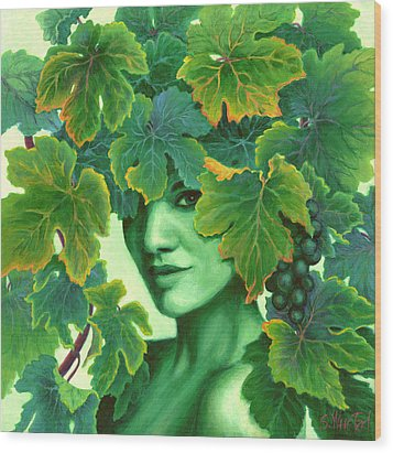 Virtue In The Vines Wood Print by Sandi Whetzel