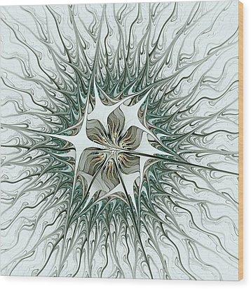 Virus Wood Print by Anastasiya Malakhova