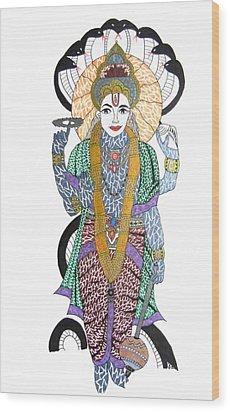 Vishnu II Wood Print