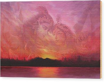 Vision Over The Yamuna Wood Print
