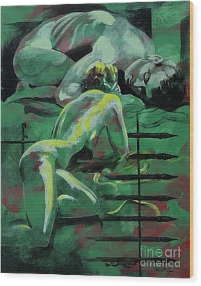 Wood Print featuring the painting Vision by Robert D McBain