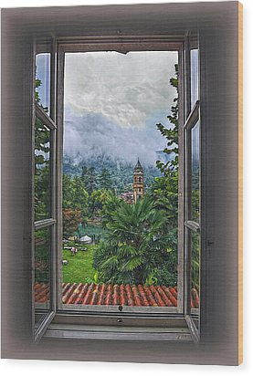 Wood Print featuring the photograph Vision Through The Window by Hanny Heim