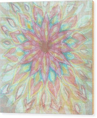 Visionary Crown Chakra Wood Print by Sacred  Muse