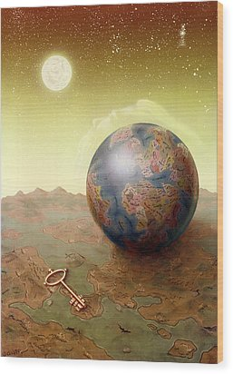 Visions Wood Print by Achim Prill
