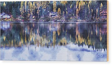 Visions- Lake Inez Wood Print by Janie Johnson