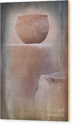 Visions Of The Past Wood Print by Sandra Bronstein