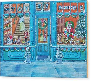 Visit To The Toy Shop Santa Wood Print by Gordon Wendling