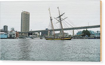 Visiting Ship Wood Print by Kathleen Struckle