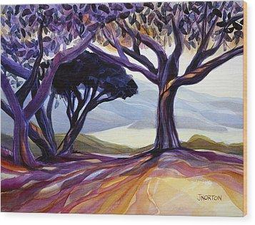Vista Point Wood Print by Jen Norton