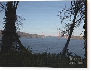 Vista To The San Francisco Golden Gate Bridge - 5d20983 Wood Print by Wingsdomain Art and Photography