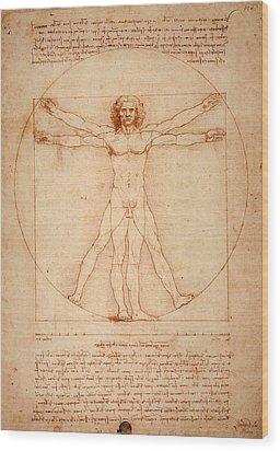 Vitruvian Man Wood Print by Bill Cannon
