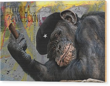 Viva La Evolucion Wood Print by Joachim G Pinkawa