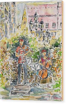 Vivaldi In The Shade Of Saint Laurence Church Nuremberg Wood Print