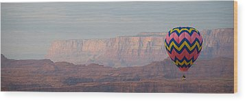 Vivid Balloon Panorama Wood Print by Kate Sumners