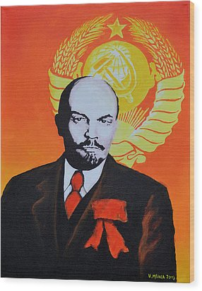 Vladimir Lenin Wood Print