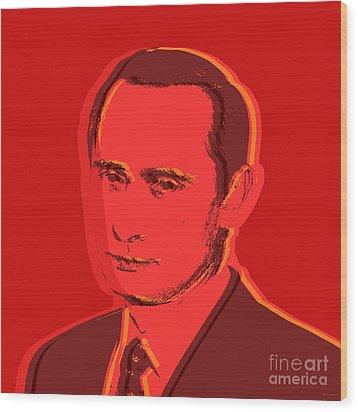 Vladimir Putin Wood Print by Jean luc Comperat